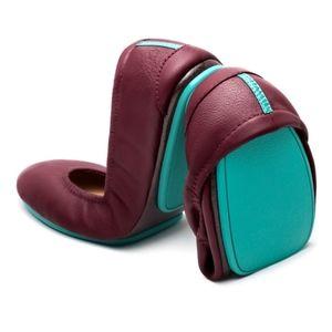 {BRAND NEW} Burgundy Classic Tieks Flats Size 8